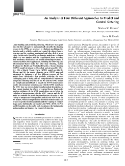 An Analysis of Four Different Approaches to Predict and Control Sintering_V 92 Is 7_Journal_of_the_American_Ceramic_Society