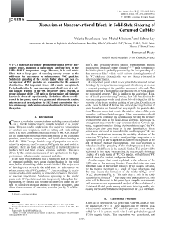 Discussion of Nonconventional Effects in Solid‐State Sintering of Cemented Carbides_V 92 Is 7_Journal_of_the_American_Ceramic_Society
