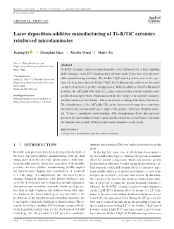 Laser deposition-additive manufacturing of Ti-B/TiC ceramics reinforced microlaminates