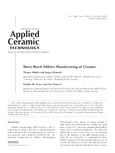 Slurry-Based Additive Manufacturing of Ceramics