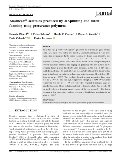Biosilicate scaffolds produced by 3D-printing and direct foaming using preceramic polymers