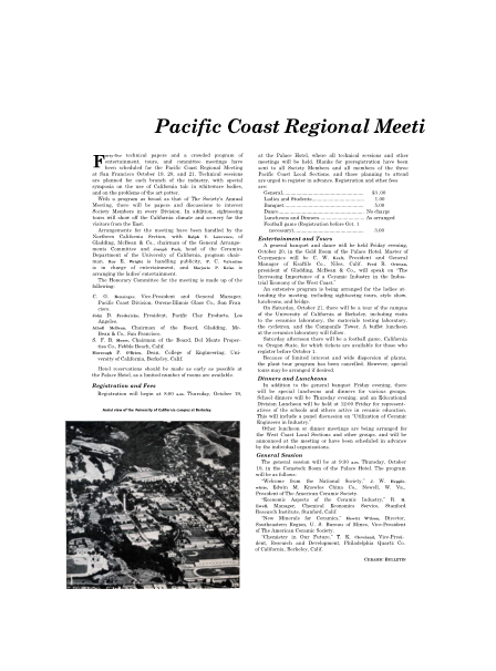 Pacific Coast Regional Meeti