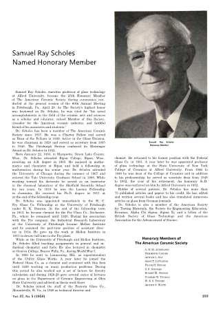 Samuel R. Scholes Names Honorary Member