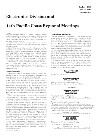 14th Pacific Coast Regional Meeting