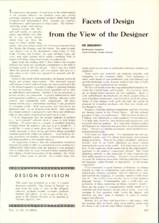 Facets of Design from the View of the Designer