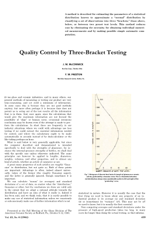 Quality Control by Three-Bracket Testing
