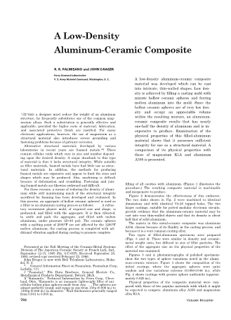 A Low Density Aluminum-Ceramic Composite