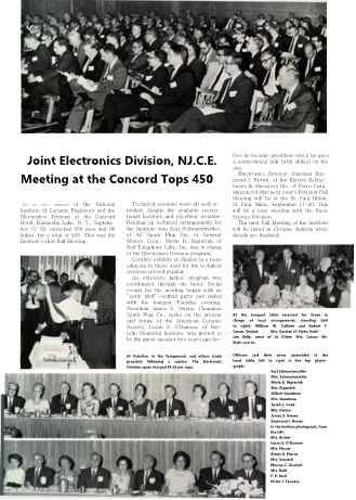 Joint Electroonics Division NICE Meeting at Concord Tops