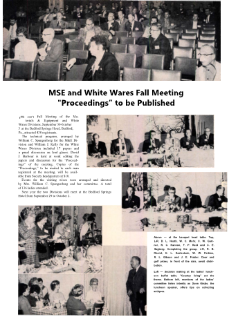 M&E and Whitewares Fall Meeting Proceedings to be Published