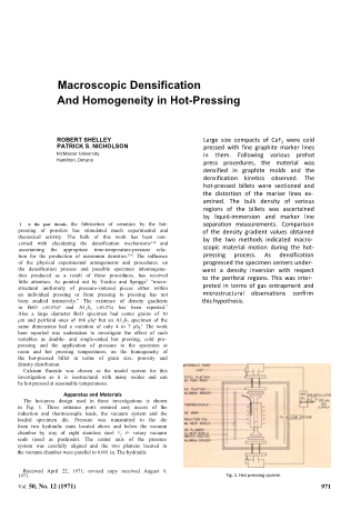 Macroscopic Densification and Homogeneity in Hot-Pressing