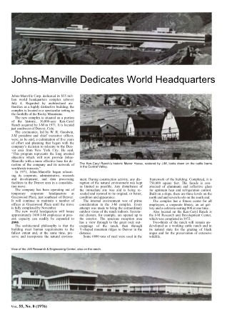 John-Manville Dedicates World Headquarters