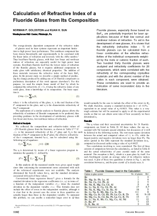 Calculation of Refractive Index of a Fluoride Glass from its Composition
