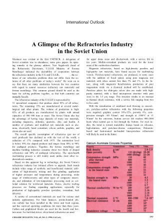 A Glimpse of the Refractories Industry in the Soviet Union