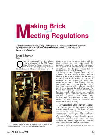 Making Brick and Meeting Regulations