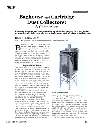 Baghouse and Cartridge Dust Collectors: A Comparison