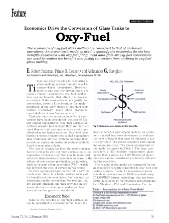 Ecomics Drive the Conversion of Glass Tanks to Oxy-Fuel