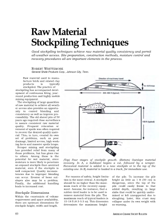 Raw Material Stockpiling Techniques