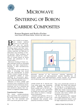 Microwave Sintering of Boron Carbide Composites