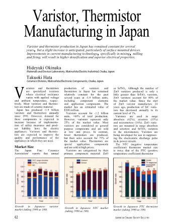 Varistor, Thermistor Manufacturing in Japan