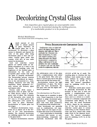 Decolorizing Crystal Glass