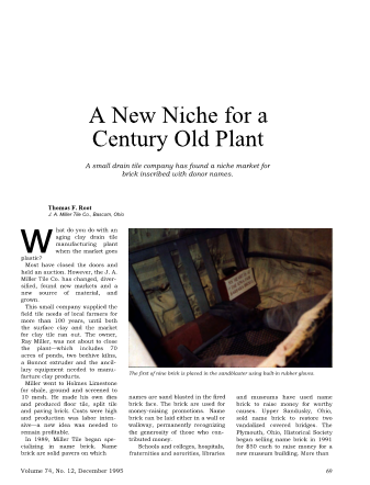 A New Niche for a Century Old Plant