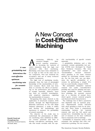 A New Concept in Cost-Effective Machining