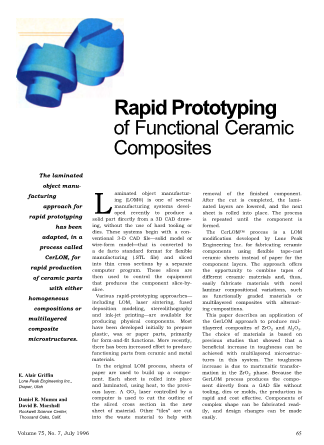 Rapid Prototyping of Functional Ceramic Composites
