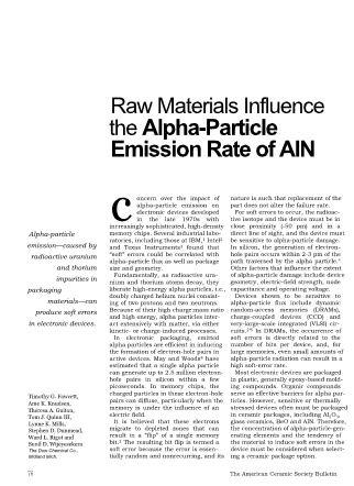 Raw Materials Influence the Alpha-Particle Emission Rate of AlN