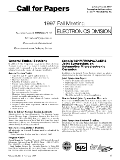 1997 fall meeting Electronics Division