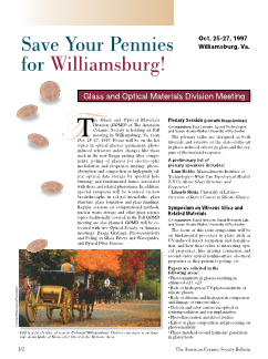 Save your pennies for Williamsburg! GOMD meeting