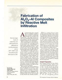 Fabrication of Al2O3-Al composites by reactive melt infiltration