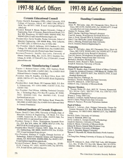 1997–98 ACerS committees