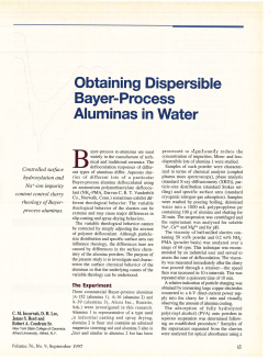 Obtaining dispersible Bayer-process aluminas in water