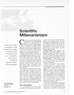 Scientific millenarianism