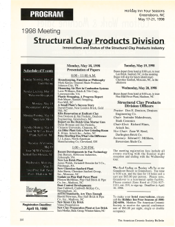 1998 meeting Structural Clay Products Division