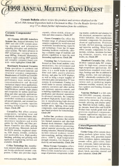 1998 Annual Meeting expo digest