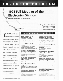 1998 Fall Meeting of the Electronics Division