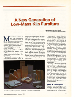 A New Generation of Low-Mass Kiln Furniture