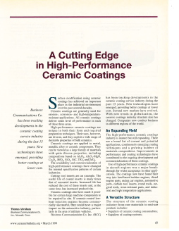 A Cutting Edge in High-Performance Ceramic Coatings