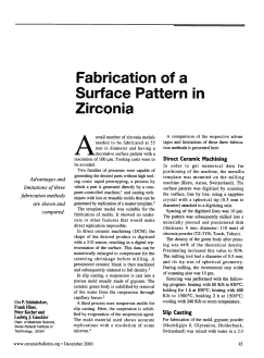 Fabrication of a Surface Pattern in Zirconia