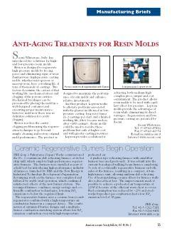 Manufacturing Briefs: Anti-Aging Treatments for Resin Molds