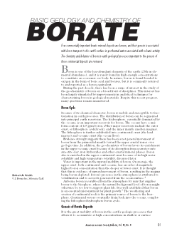 Basic Geology and Chemistry of Borate