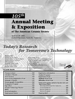 105th Annual Meeting & Exposition of The American Ceramic Society
