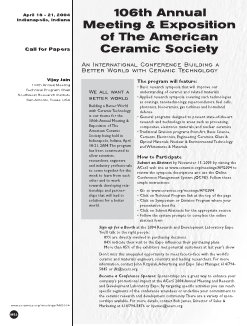 106th Annual Meeting & Exposition of The American Ceramic Society
