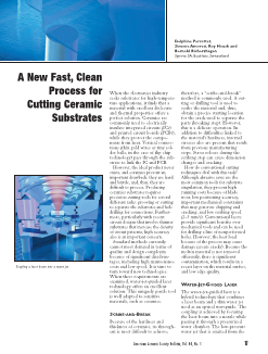 A new fast, clean process for cutting ceramic substrates