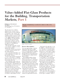 Value-added flat-glass products for the building, transportation markets, part 1