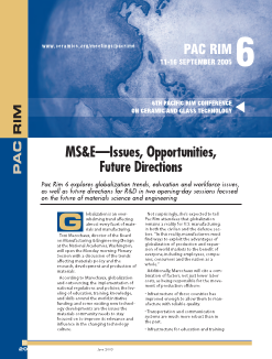 PACRIM6—MS&E—Issues, opportunities, future directions