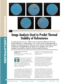 Image Analysis Used to Predict Thermal Stability of Refractorie