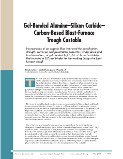 Gel-Bonded Alumina–Silicon Carbide– Carbon-Based Blast-Furnace Trough Castable