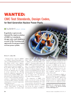 Wanted: CMC Test Standards, Design Codes, for Next-Generation Nuclear Power Plants